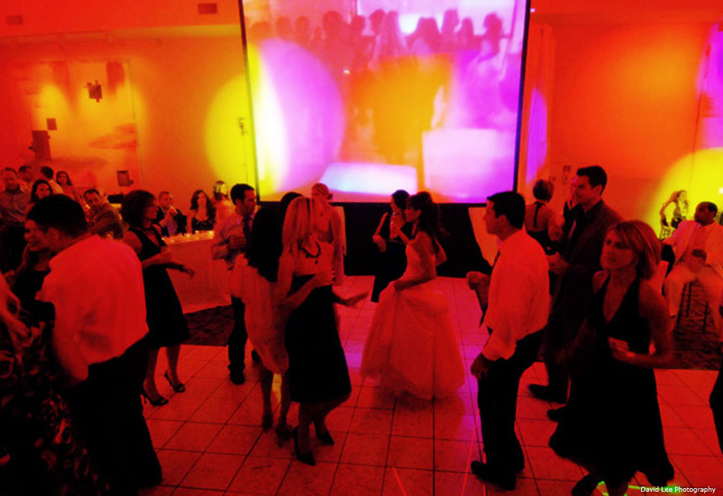 Night club wedding