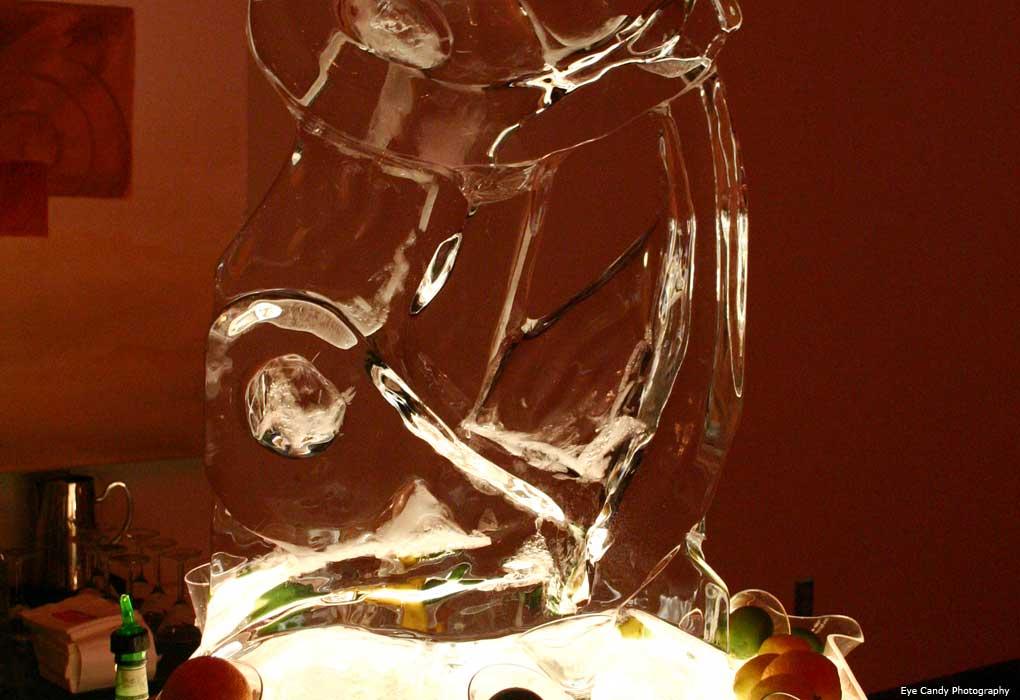 Ice luge wedding