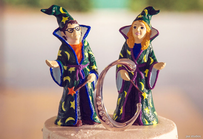 wizard wedding cake toppers