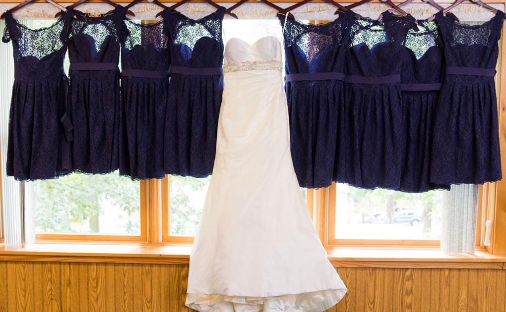 navy blue bridesmaids dresses