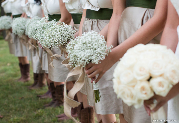 baby breath bridesmaids bouquets