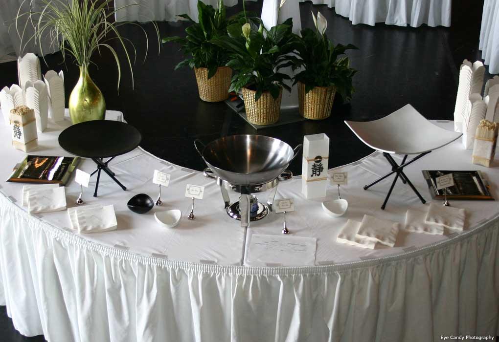 wedding asian food station