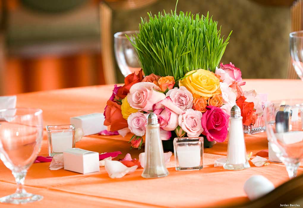 grass centerpieces wedding