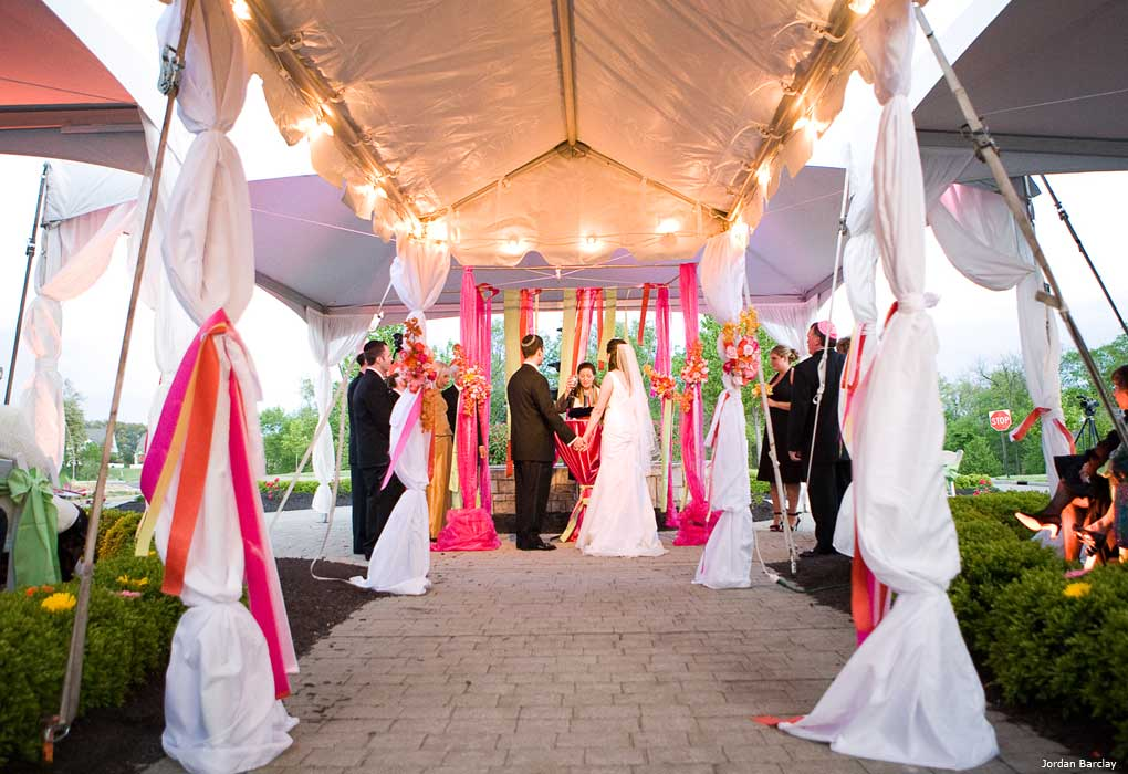 outdoor jewish wedding