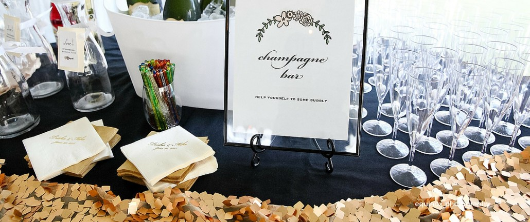 wedding champagne bar