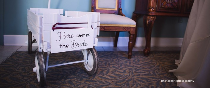 here comes the bride wagon