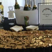 champagne bar at wedding