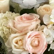 blush cream roses centerpiece