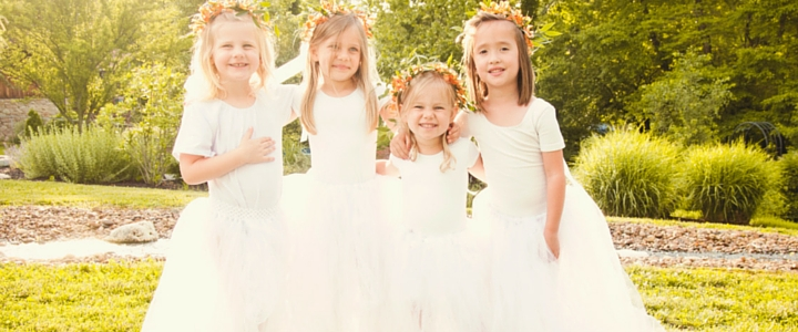 flower girl ballerinas