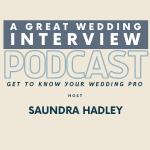 a great wedding interview podcast logo