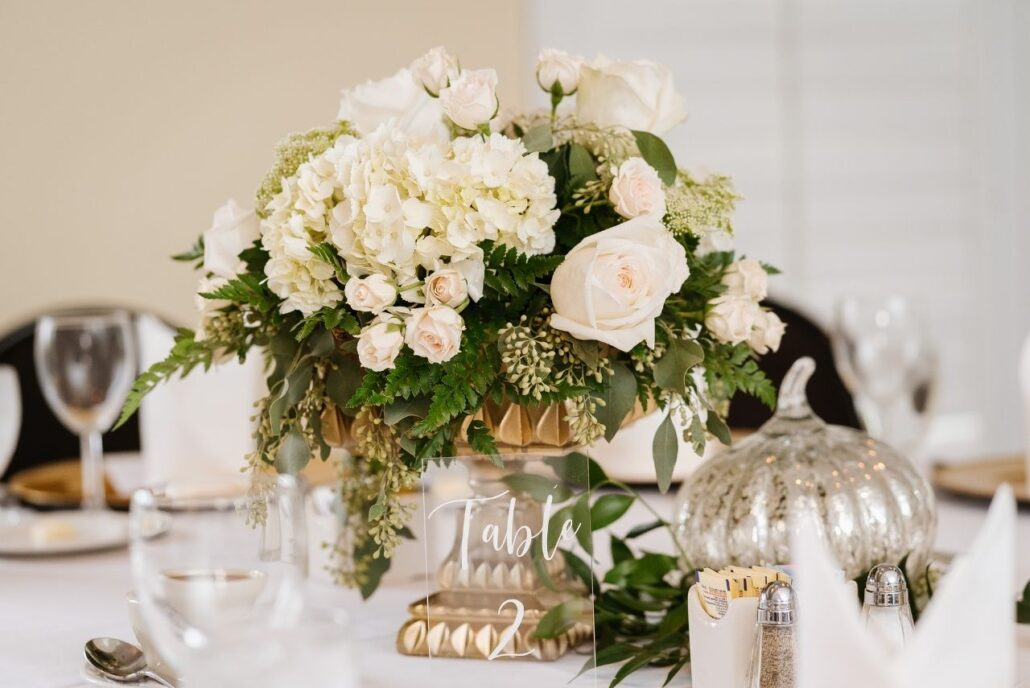 full white centerpieces