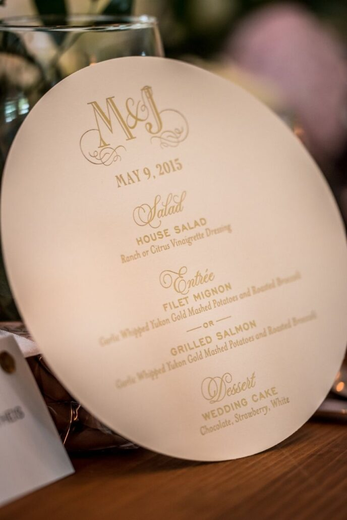 round custom menu evansville country club