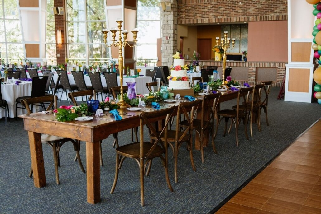 harvest head table at reception
