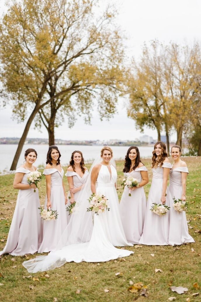 soft colors for bridal party