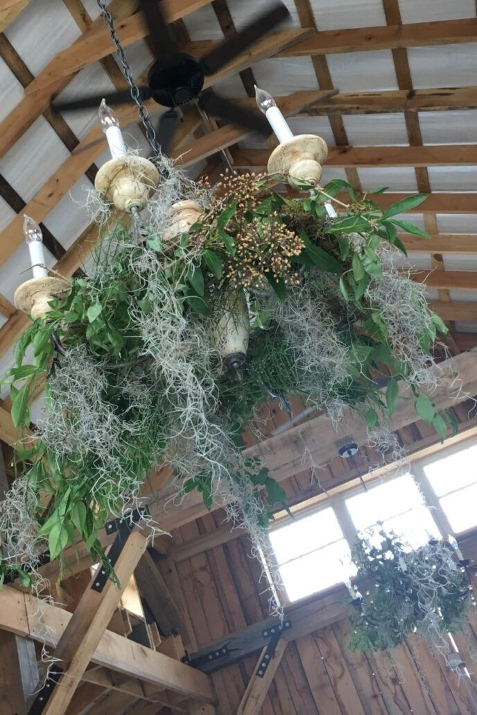 moss hanging floral