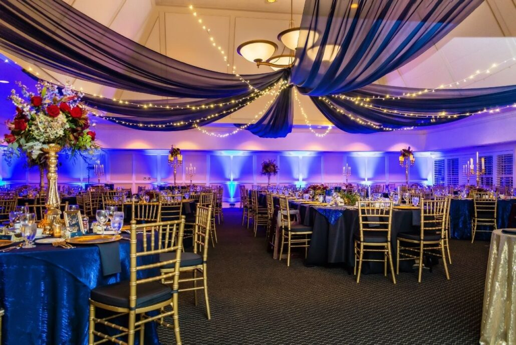 midnight starry sky wedding ceiling treatment